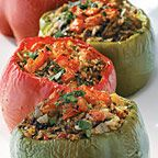 Lentil and Rice Stuffed Peppers recipe - Fresh Juice