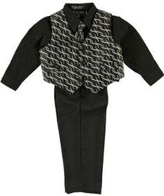 "Andrew Fezza ""Brewster"" 4-Piece Vest Set (Sizes 12M - 24M) - black, 18 months Andrew Fezza. $14.99"