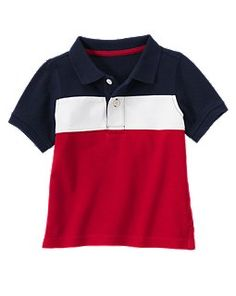 4th Of July Pieced Pique Polo Shirt @Gymboree