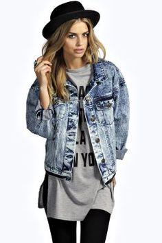 Mia Oversize Boyfriend Denim Jacket