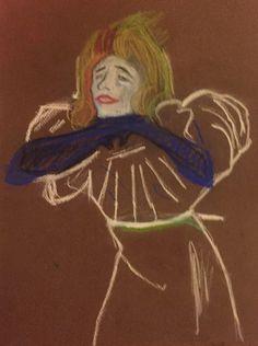 Eyvette Guilbert Painting & Drawing, Disney Characters, Fictional Characters, Paintings, Disney Princess, Drawings, Art, Art Background, Paint