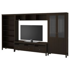 I could handle this if it were styled well, like Crate & Barrel. HEMNES TV storage combination - black-brown - IKEA $798.00