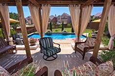WANT!  Land Design Tx traditional pool