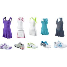 Nike Tennis Outfits. I don't play tennis..But now I want to.