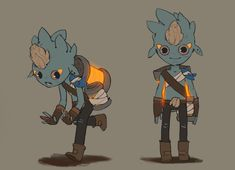 Having fun designing these characters. Playing with different designs and personalities.