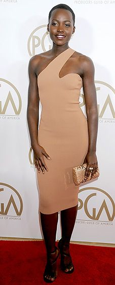 Lupita Nyong'o stuns us yet again in Stella McCartney at the 2014 Producers Guild of America Awards