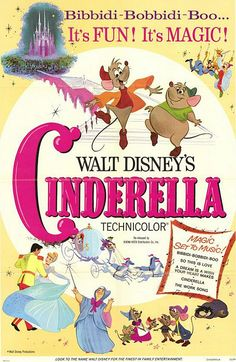 *CINDERELLA, Original theatrical poster, 1950