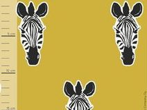 Bio Jersey Stoff Zebra senf