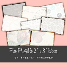 Free Printable from Sweetly Scrapped