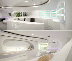 the architectural studio 3 deluxe has developed an excellent and futuristic design agency office syzygy located in frankfurt germany the whole environment agency office literally disappears hours