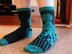 Octosocks are a pair of stranded color work socks knit