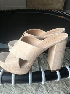 e6b16d5cf69b Mansur Gavriel Beige Suede Platform Sandal Heels Size 37  fashion  clothing   shoes