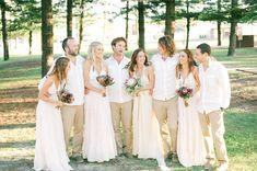 Beautiful boho bridesmaids in neutral colours!  Photos by NGG Studios  #bridesmaids #bohemian #beach #neutral #pastel