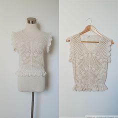 Crochetemoda: Blusa de Crochet Marfim