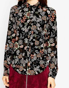 Image 3 ofASOS Blouse in Winter Floral Print