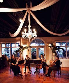 string quartet in ballroom at The White Room in St. Augustine, FL
