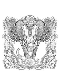 Tall like an elephant, Beautiful like a Zentangle !, From the gallery : Zentangle
