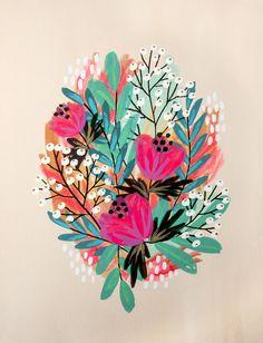 Flowers 1 by jess phoenix flower patterns, print patterns, gouache, floral illustra Gouache Painting, Painting & Drawing, Floral Illustrations, Illustration Art, Posca Art, Guache, Flower Patterns, Print Patterns, Painting Inspiration