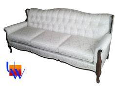Vintage tufted sofa by Upholstery Works. Las Vegas, NV http://www.UpholsteryWorksLV.com