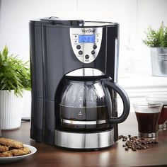 VonShef Digital Filter Coffee Maker with Integrated Grinder and Reusable Filter, 1000W, Programmable, 10 to 12 Cup, Free 2 Year Warranty: Amazon.co.uk: Kitchen & Home
