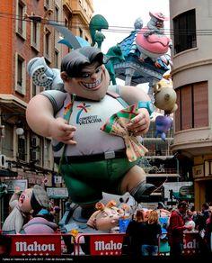 Fallas en Valencia en el año 2012 - Foto de Gonzalo Obes