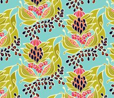 Amy Reber Desings #textiledesign #interiordesign #fabric #flowers