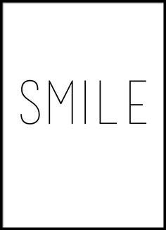 Typografie-Poster, smile. Wird man nicht gleich ein bisschen fröhlicher?