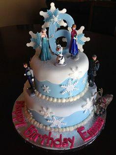 Frozen pour le gâteau de votre fille