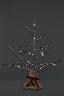 1.2m Natural Birch Garland Christmas Tree/'s Rustic Hanging Decoration