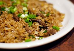 Simple #beef #fried #rice.  Click for Recipe. Sub chicken, turkey, pork or bison for the beef.