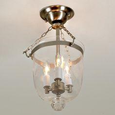 Mini Smokebell Semi-Flush Ceiling Lantern - 4 Finishes 279