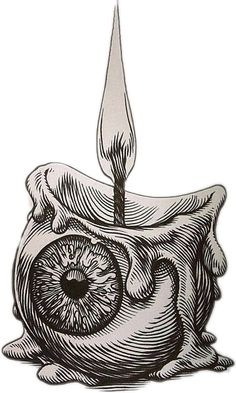 Sticker by - stickereyeball candle creepy - Trippy Drawings, Dark Art Drawings, Pencil Art Drawings, Art Drawings Sketches, Creepy Sketches, Crazy Drawings, Sharpie Drawings, Skeleton Drawings, Tattoo Design Drawings