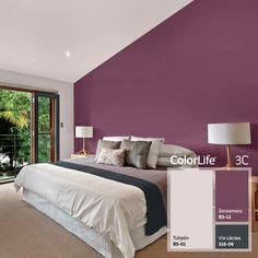 Comex Colors Plum Bedroom, Purple Bedrooms, Bedroom Wall Colors, Bedroom Color Schemes, Paint Colors For Living Room, Home Bedroom, Living Room Decor, Bedroom Decor, Home Building Design