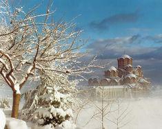 Agios Rafail Church - Kilkis Regional Unit - Greece Painting Snow, Byzantine, Christianity, Macedonia Greece, Saints, Religion, The Unit, Winter Snow, Regional