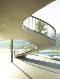 Joos & Mathys Architekten - Zürich - Strandbad Lido Stairs, Construction, Projects, Beautiful, Staircases, Toilet, Home Decor, Antique, Crafts