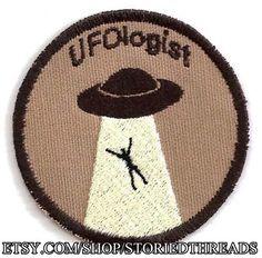 UFOlogist Geek mérito distintivo parche