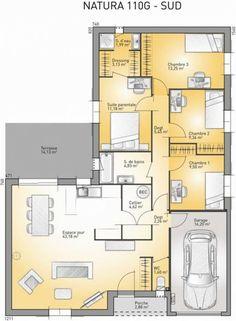 Plan maison neuve à construire - Maisons France Confort Natura 110 G