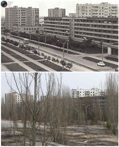 chernobyl before and after