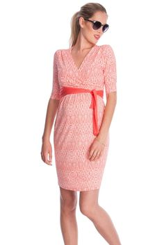 Seraphine Callie Nursing Dress in Coral Print. We have 31 new arrival products this week. Please use coupon code NewProducts to receive 15% off these items. To receive the discount, please place your order by midnight Monday, February 22, 2016