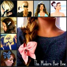 Hair bows are in! Hair Accessories. Hairstyles | Kenra Professional Inspiration