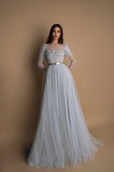 Evening dress # 1541 by Oksana Mukha # Occasiondress Hijab Evening Dress, Hijab Dress Party, Party Wear Indian Dresses, Indian Gowns Dresses, Cute Prom Dresses, Prom Dresses Long With Sleeves, Elegant Dresses, Pretty Dresses, Beautiful Dresses