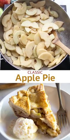 An easy Apple Pie recipe with step-by-step photos and tips for making homemade apple pie filling and apple pie crust (either traditional or lattice). and drinks thanksgiving Apple Pie Apple Pie Recipe Easy, Homemade Apple Pie Filling, Best Apple Pie, Easy Pie Recipes, Pie Crust Recipes, Apple Pie Recipes, Homemade Pie, Dessert Recipes, Apples For Apple Pie