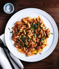 Pork and fennel sausage finds a new life in Isaac McHale& ragù, served here with dumpling-shaped gnocchetti Sardi. Anchovies add a small burst of umami. Mint Recipes, Chef Recipes, Pasta Recipes, Italian Recipes, Cooking Recipes, Italian Foods, Italian Pasta, Healthy Recipes, Gourmet