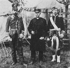 The Doctor, the Chaplain and the Major of the 1st Argyll Highland Rifle Volunteers  1880s