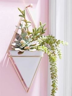 Oživte své zdi a interiér originálním způsobem! Tuto sadu dvou originálních květináčů můžete pověsit na zeď. Rozměr: 22,9 х 38,1 х 9,5 cm.