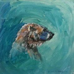 bear paintings canvas - Google Search