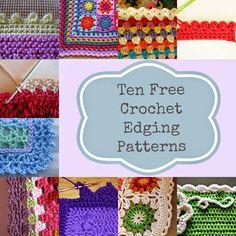 Ten Free Crochet Edging Patterns