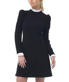 Love this Black Mock Neck Sheath Dress on #zulily! #zulilyfinds
