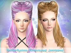 Jennisims: Downloads sims 3:ButterflySims Hair 078/082 Retextured All Ages