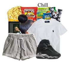 """""""Chill_"""" by loyalnene ❤ liked on Polyvore featuring HUF, Ralph Lauren, H&M, NIKE, Chilll and greyyy"""
